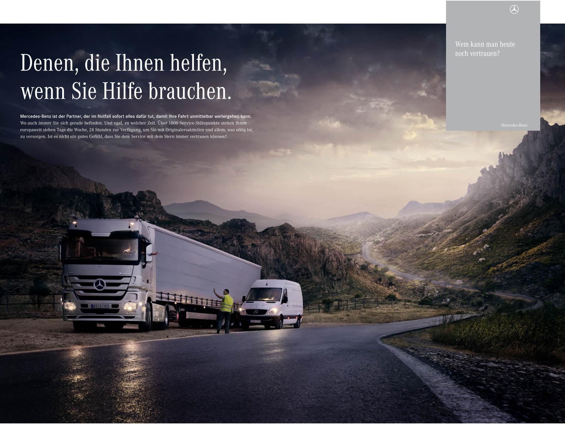 Imagebroschüre // Mercedes-Benz Trucks
