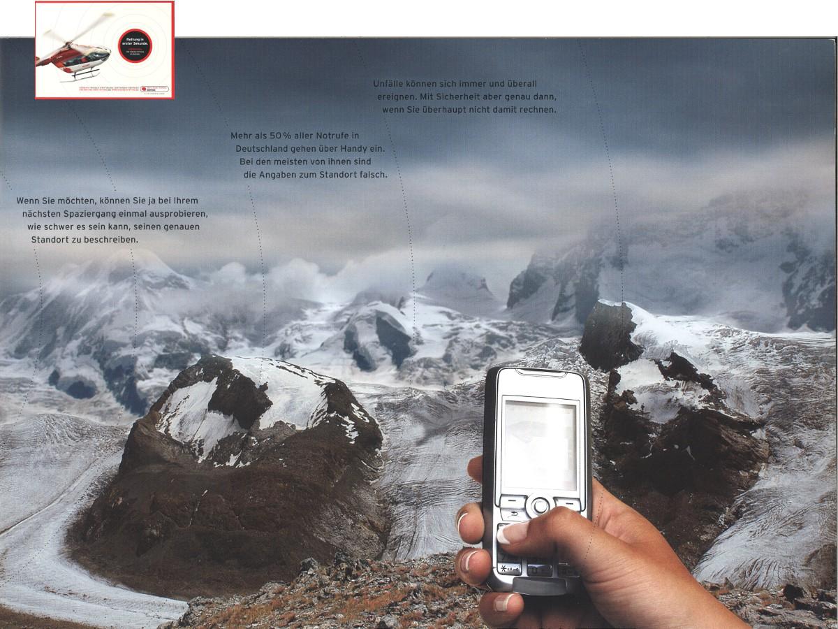 Broschüre aus der LifeService Kampagne // Björn Steiger Stiftung
