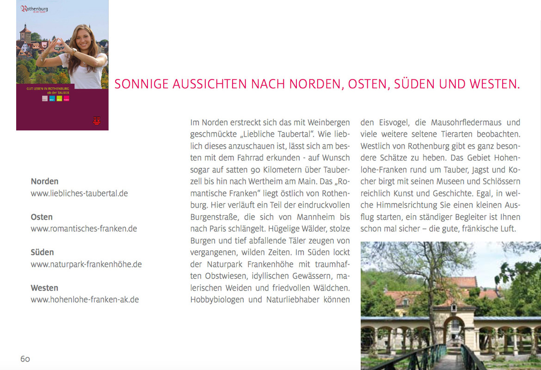 Redaktion // Stadtbroschüre Rothenburg ob der Tauber