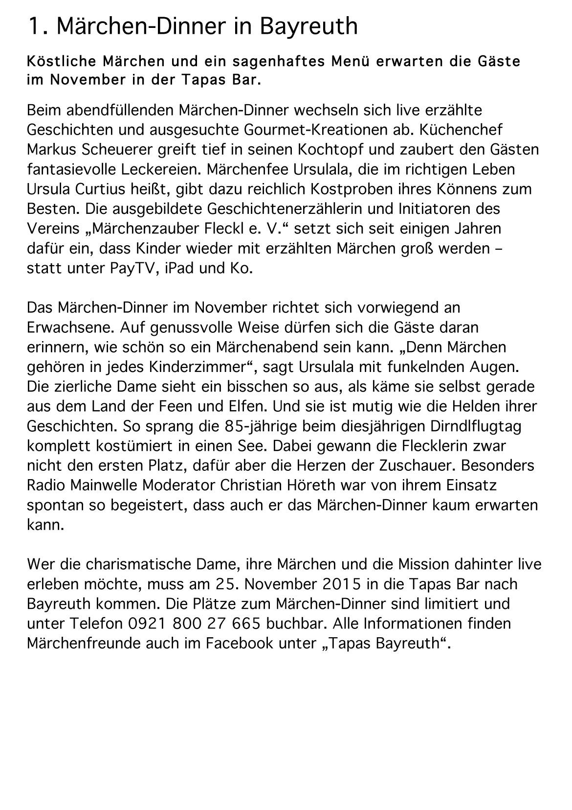 Online-PR // Märchenzauber Fleckl e. V.