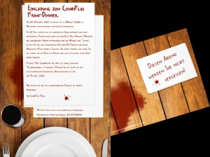 Einladung // Krimi-Dinner