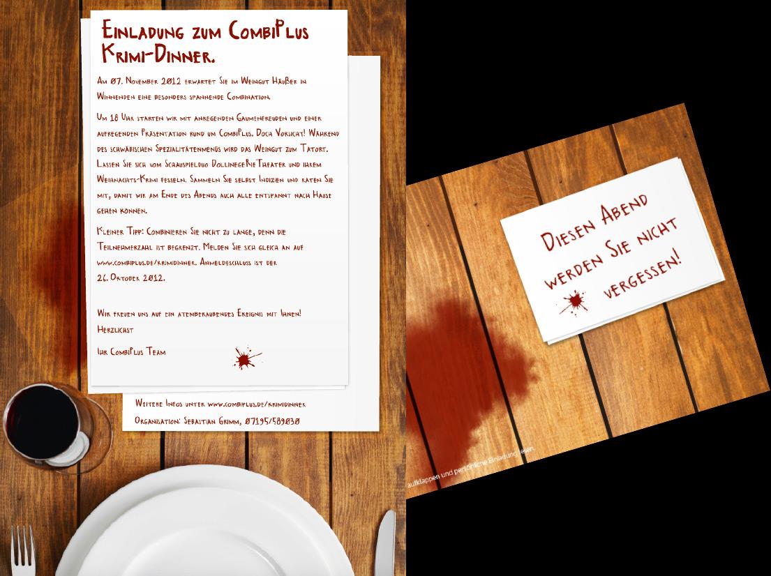 Einladung zum Krimi-Dinner // CombiPlus