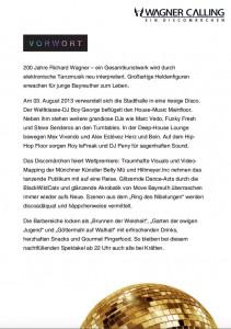 Programmheft // Wagner Calling