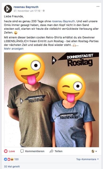Facebook Gewinnspiel // rosenau Bayreuth