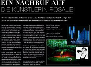 Ein Nachruf auf rosalie // Richard's Magazin