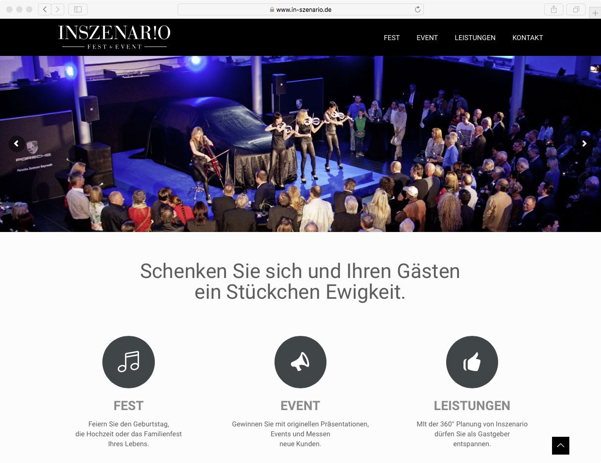 Website // Inszenario