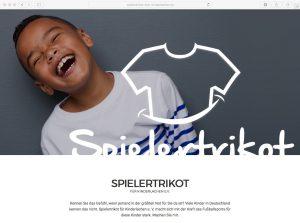 Website // Spielertrikot für Kinderlachen e. V.