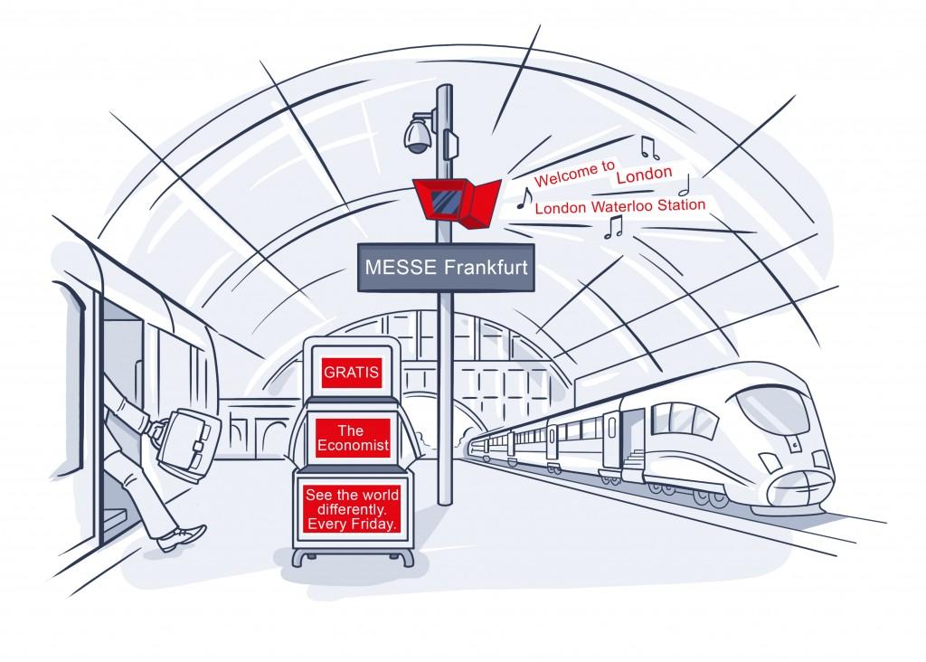 Kommunikation im Raum 'Die Bahnhofsdurchsage' // The Economist